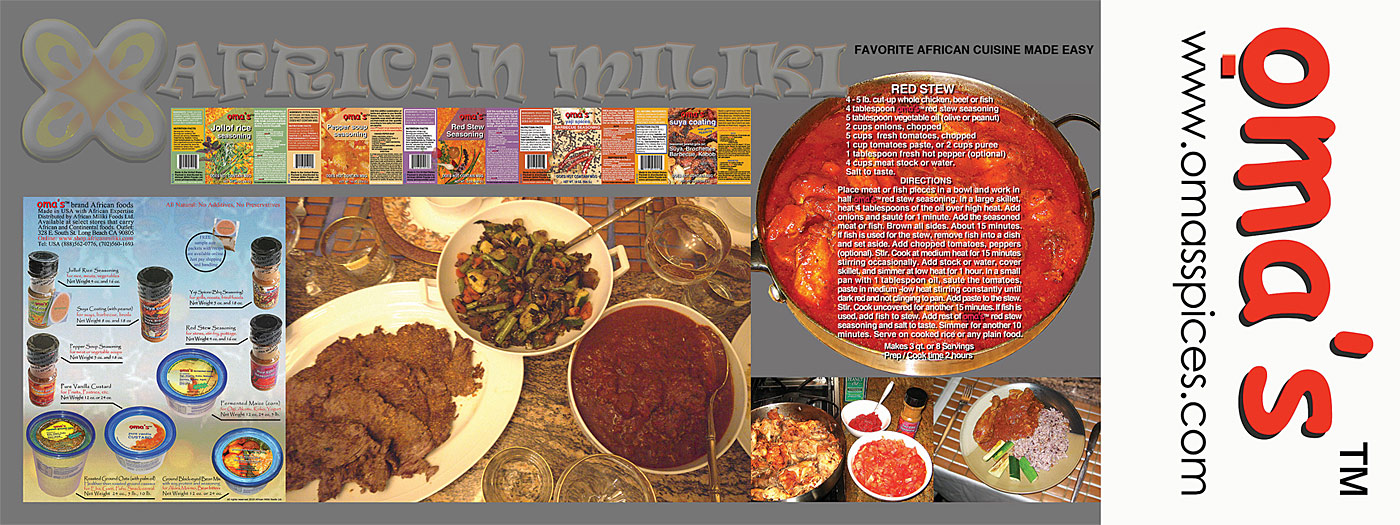 African Seasonings, Spices, Recipes and Palaver